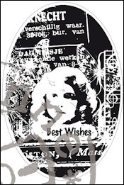Marianne Design - Cling Stamp - Romantic Vintage - Best wishes - CS0867