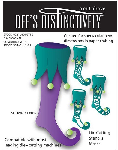 Dee`s Distinctively - Die - Stocking Silhouette