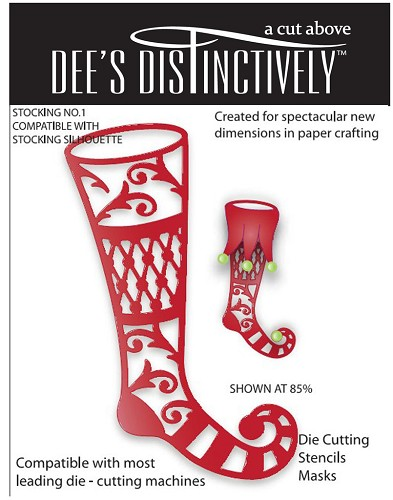Dee`s Distinctively - Die - Stocking No.1