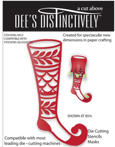 Dee`s Distinctively - Die - Stocking No.3