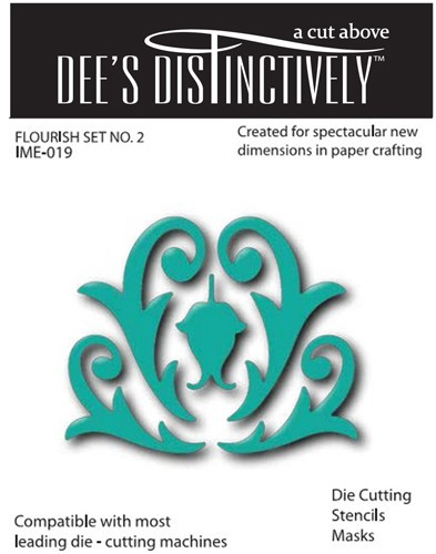 Dee`s Distinctively - Die - Flourish Set No.2
