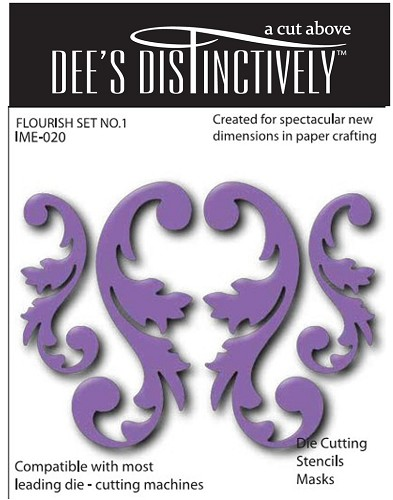 Dee`s Distinctively - Die - Flourish Set No.3