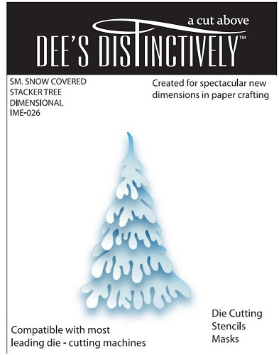Dee`s Distinctively - Die - Snow Covered Stacker Tree (small)