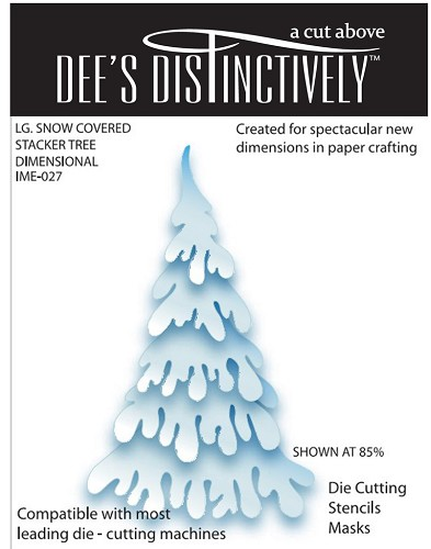 Dee`s Distinctively - Die - Snow Covered Stacker Tree (Large)