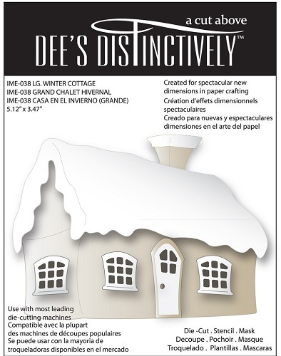 Dee`s Distinctively - Die - Winter Cottage (large)