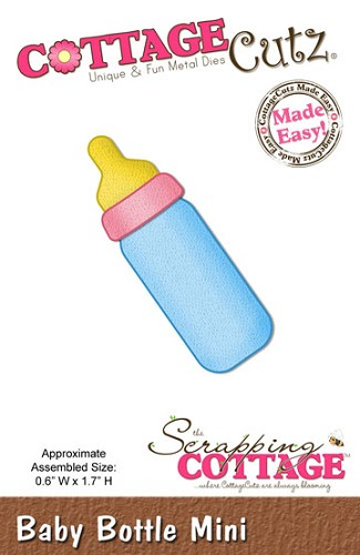 Cottage Cutz - Die - Baby Bottle mini - CC-MINI-131