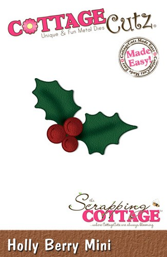 Cottage Cutz - Die - Holly Berry Shape mini - CC- mini-025