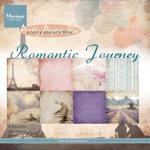 Marianne Design - Paperpack - Pretty Papers - Romantic Journey - PK9096