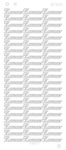 Card Deco - Stickervel - Platinum - Zomaar: Goud - CD3003