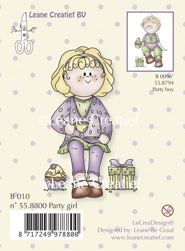 Leane Creatief - Clearstamp - Bambini party girl - 55.8800