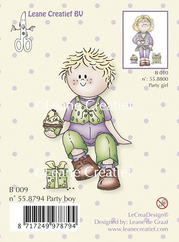 Leane Creatief - Clearstamp - Bambini party boy - 55.8794
