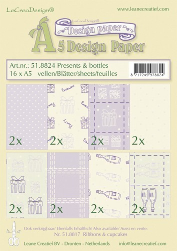 Leane Creatief - Paperpack - Design Paper - Presents & bottles - 51.8824