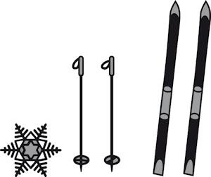 Marianne Design - Die - Craftables - Skis and snowflakes - CR1252
