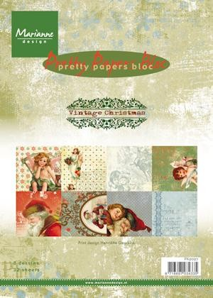 Marianne Design - Paperpack - Pretty Papers - Vintage Christmas - PK9097