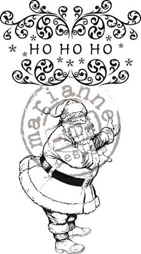 Marianne Design - Cling Stamp - Vintage Christmas - HoHoHo - CS0873
