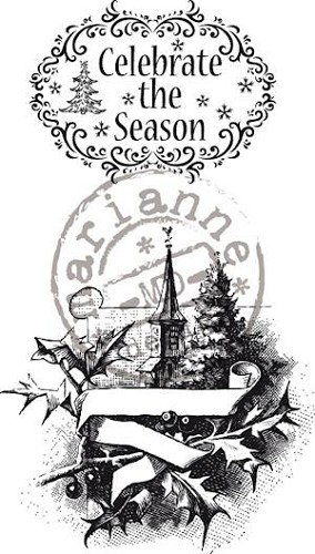 Marianne Design - Cling Stamp - Vintage Christmas - Celebrate the season - CS0876