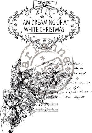 Marianne Design - Cling Stamp - Vintage Christmas - Dreaming of a white X-mas - CS0877