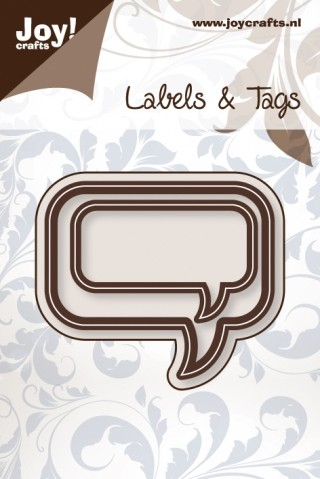 Joy! crafts - Die - Vintage Flourishes - Labels & Tags - Tekstballon rechthoek