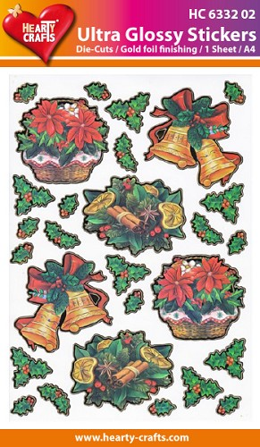 Hearty Crafts - Ultra Glossy Stickers - Kerst - HC633202
