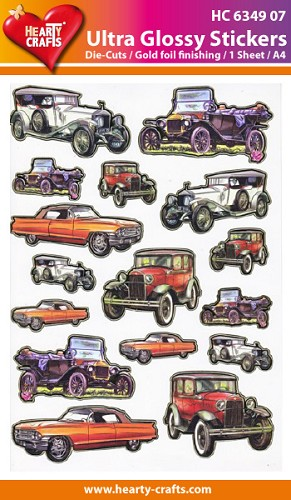 Hearty Crafts - Ultra Glossy Stickers - Oldtimers - HC634907
