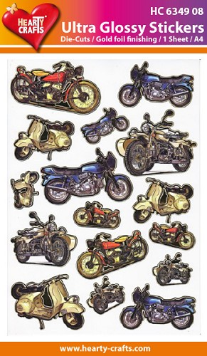 Hearty Crafts - Ultra Glossy Stickers - Motors - HC634908