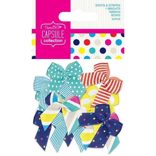 Papermania - Strikken / bows - Capsule collection - Spots & Stripes: Brights - PMA367205