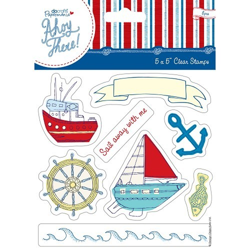 Papermania - Clearstamp - Ahoy There - Sail away with me - PMA907112