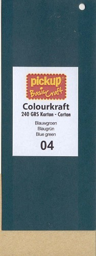 PickUp - Colourkraftkarton - 135 x 270mm: Blauwgroen - 1004