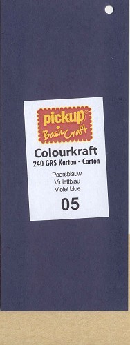 PickUp - Colourkraftkarton - 135 x 270mm: Paarsblauw - 1005