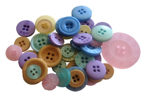 Crafts-Too - Mixed Buttons: Pastel - CT68371