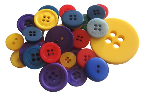 Crafts-Too - Mixed Buttons: Primary - CT68373