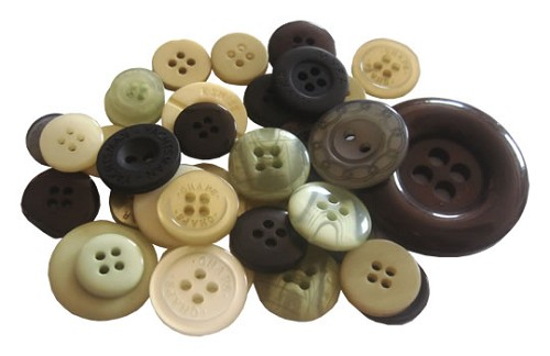 Crafts-Too - Mixed Buttons: Neutral - CT68374