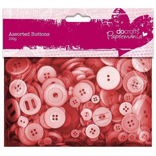 Papermania - Assorted Buttons: Red - PMA354304