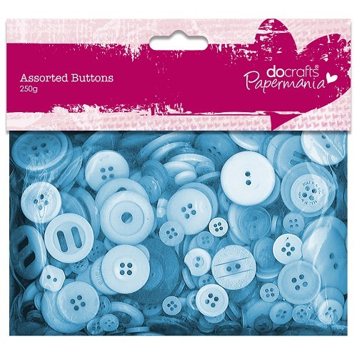 Papermania - Assorted Buttons: Blue - PMA354305