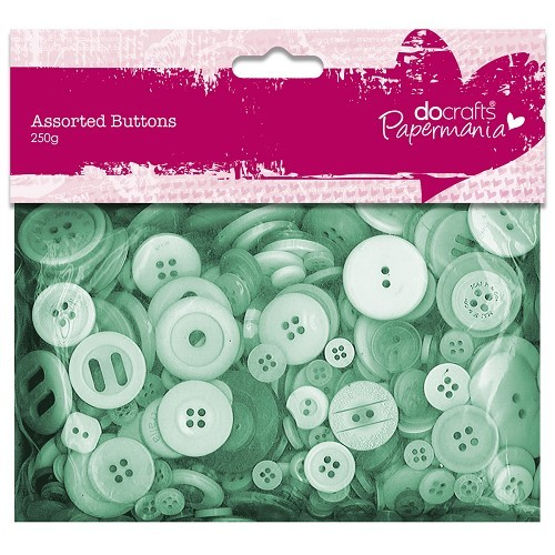 Papermania - Assorted Buttons: Green - PMA354307