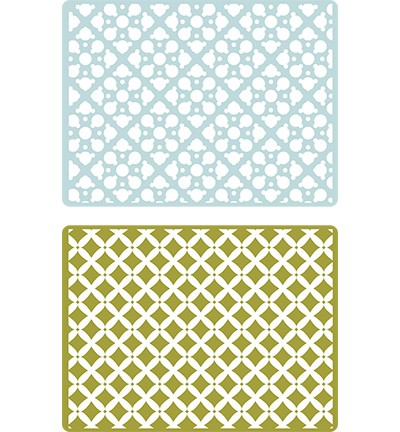 Sizzix - Embossingfolder - Textured Impressions Dotted Squares - 658705