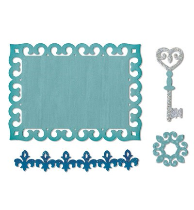 Sizzix - Die - Thinlits - Border, Label, Medallion & Key