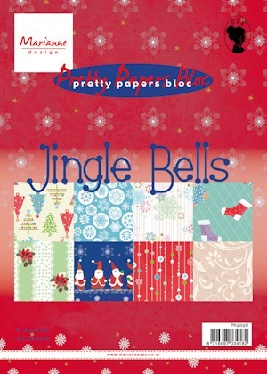 Marianne Design - Paperpack - Pretty Papers - Jingle Bells - PK9098