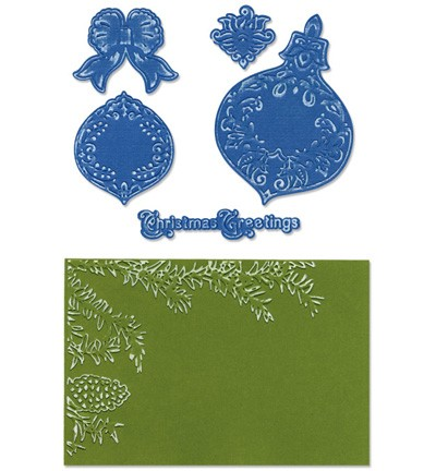 Sizzix - Die - Framelits - Pinecone & Ornament Set - 657975