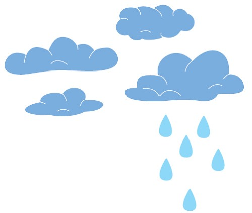 Cheery Lynn Design - Die - Clouds and rain (set of 2) - B320