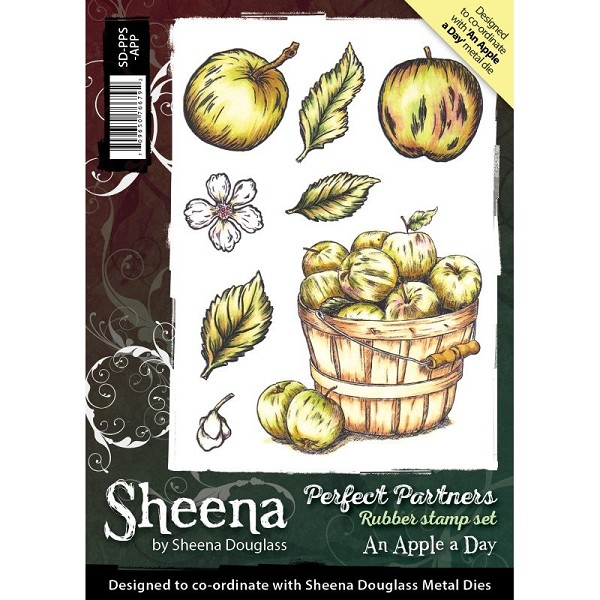 Sheena Douglass - Cling Stamp - Perfect Partners - An Apple A Day - SD-PPS-APP