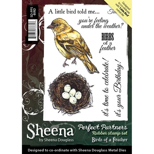 Sheena Douglass - Cling Stamp - Perfect Partners - Birds of a Feather - SD-PPS-BIRD