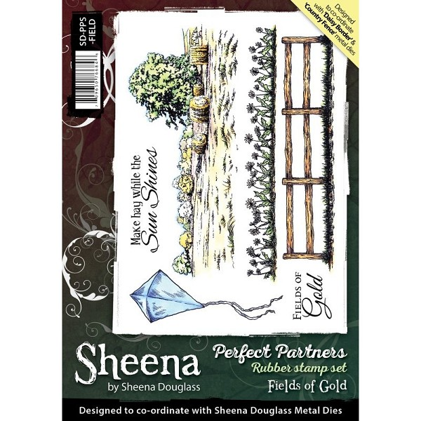 Sheena Douglass - Cling Stamp - Perfect Partners - Fields of Gold - SD-PPS-FIELD