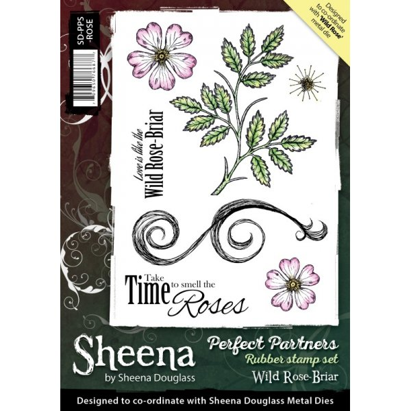 Sheena Douglass - Cling Stamp - Perfect Partners - Wild Rose-Briar - SD-PPS-ROSE