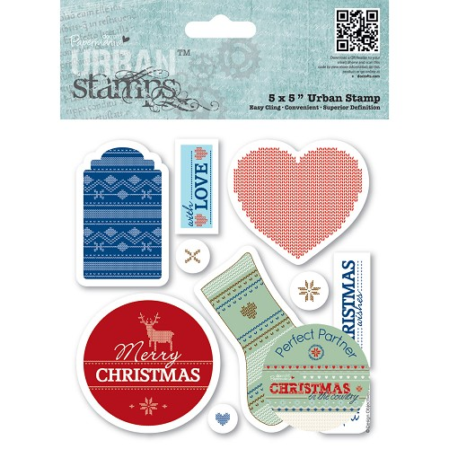 Papermania - Cling Stamp - Christmas in the Country - Tags - PMA907180