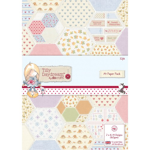 Docrafts - Tilly Daydream - Paperpack - A4 - TIL160101