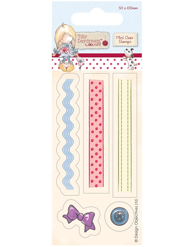 Docrafts - Tilly Daydream - Clearstamp - Ribbons - TIL907104