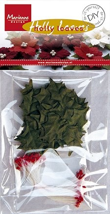 Marianne Design - DiY - Holly leaves: Red - RB2223