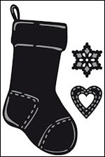Marianne Design - Die - Craftables - Tiny`s Christmas socking - CR1256