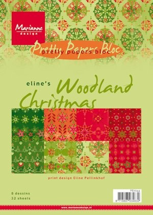 Marianne Design - Paperpack - Pretty Papers - Eline`s Woodland Christmas - PB7044